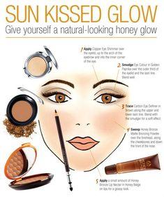 Give yourself a natural-looking Honey Bronze glow Eyebrow Makeup Tips, Makeup 101, Makeup Videos, Makeup Hacks, Makeup Inspo, Hair Makeup, Fancy Makeup, Love Makeup, Body Shop At Home