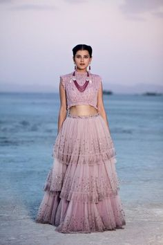 Dress Indian Style, Indian Fashion Dresses, Indian Designer Outfits, Indian Outfits, Designer Dresses, Indian Wear, Indian Attire, Lehenga Gown, Lehnga Dress