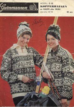 Garnmannen - Kopperhaugen 55 Norwegian Knitting, Old School, Knitwear, Knitting Patterns, Knit Crochet, Design Inspiration, Sweaters, Style, Tricot