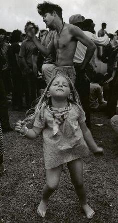 Little girl dancing at Woodstock!