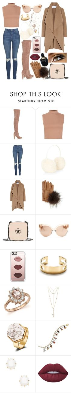"""Untitled #425"" by samara-fonseca ❤ liked on Polyvore featuring Gianvito Rossi, Topshop, Accessorize, Harris Wharf London, Inverni, Chanel, Linda Farrow, Casetify, Tiffany & Co. and Bloomingdale's"
