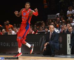 """Sonny Weems, basketball player of CSKA Moscow Basket, was wearing Nike KD VI """"Washington D.C."""" during the match against Maccabi Tel Aviv. 16.5.2014"""