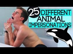 25 Different Animal Impersonations    I AM DYING OF LAUGHTER.  THE SPIDER IS SOOO SCARY, BUT THEY ARE ALL SOOOO FUNNY!  AND THE MOSQUITO AND CHICKEN ARE FUNNY!