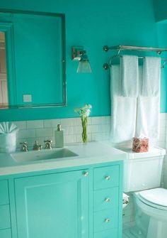 Turquoise bathroom. 15 Extremely Vibrant Turqouise Bathroom Design Ideas - Rilane
