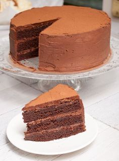 Chocolate Cake (this looks amazing! Sweet Recipes, Snack Recipes, Dessert Recipes, Cake Cookies, Cupcake Cakes, Rudolph's Bakery, Cake Recept, Baking Bad, Sweet Bakery