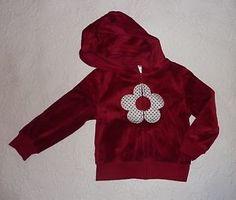 Gymboree-Holiday-Panda-Red-Flower-Velour-Hoodie-jacket-size-XS-3-4