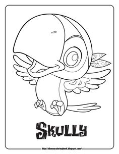 jake and the never land pirates coloring pages skully