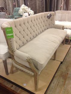 1000 images about chairs benches sofas on pinterest for Home goods loveseat