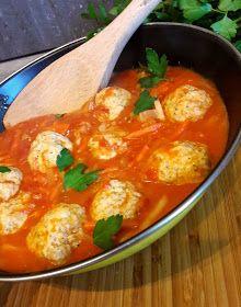 Andzia Pichci: Pulpety z indyka w sosie pomidorowym z warzywami Thai Red Curry, Ethnic Recipes, Food, Kids, Kitchens, Young Children, Boys, Essen, Meals