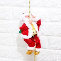 Electrical Climbing Ladder Santa Claus Christmas Decoration Xmas Get together DIY 2020 Present Christmas Doll Christmas Jingles, Best Christmas Gifts, Christmas Sale, Best Gifts, Christmas Ornaments, Christmas Ideas, Santa Decorations, Festival Decorations, Santa Doll