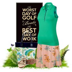 Stylish Outfit For Your Golf Game brought to you by Nike and Monterey Club Apparel plus Sandbaggers Sandals and Sassy Caddy Tote Bag. #lorisgolfshoppe