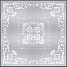 Filet Crochet Designs » Filet Crochet Pattern / Ref. No NJ3-1 Can work for parchment too!!!