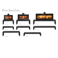 Stovax Riva Studio 1 Freestanding Wood Burning Stove - Contemporary Stoves - Stoves - Stoves Are Us