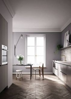 new home kitchen ideas Contemporary Kitchen Inspiration, Dining Room Inspiration, Interior Design Inspiration, Home Interior Design, Casa Mix, Modern French Interiors, Pretty Things, Rustic Kitchen Design, Design Your Dream House