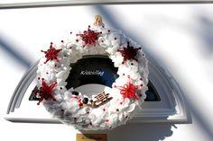 Karácsonyi ajtódísz quilling
