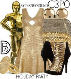 The Force will be with you in this C3PO outfit  | Disney Fashion | Disney Fashion Outfits | Disney Outfits | Disney Outfits Ideas | Disneybound Outfits | Star Wars Outfit |