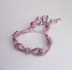 Beads & satin cord  #handmade #jewelry #bracelet