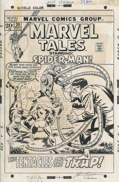 John Buscema Marvel Tales 39 Cover (Spider-Man) Comic Art