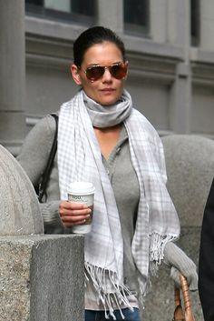 Katie Holmes Aviator Sunglasses