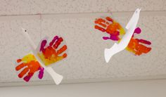 Peace Doves-to honor MLKJr Day. Doves made with student handprints. Students talk about friendships, and accpetance of others, then make colorful doves.