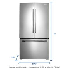 Samsung 25.5-cu ft French Door Refrigerator with Single Ice Maker (Stainless Steel) 1,198 AISLE BW BAY 3