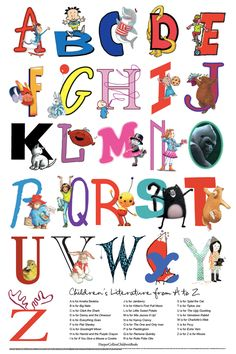 ABCs of Children's Literature poster from Harper Collins