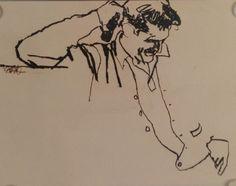 Puritan - Menswear Ad - Drawing/illustration art by Bob Peak Ink Illustrations, Art And Illustration, Figure Drawing, Life Drawing, Storyboard, Bob Peak, Fairy Tail Drawing, Collages, Eyes Artwork