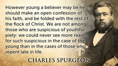 Spurgeon Quote young baptism