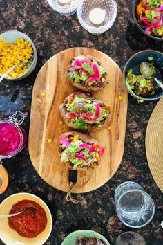 GreenWolff Sweet Potato Tacos, Sweet Potato Breakfast, Breakfast Potatoes, Pistachio Cream, Easter Breaks, Oven Roasted Potatoes, Berry Sauce, Rice Porridge, Banana Oats