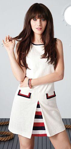Retro Stripe Dress // Designed by Zooey Deschanel ♥