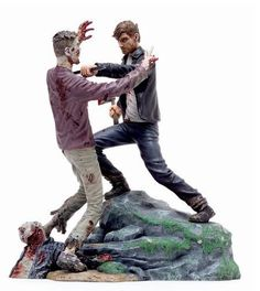 Diorama The Walking Dead. Rick Grimes vs Zombie, 20 cms