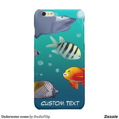 Underwater scene glossy iPhone 6 plus case