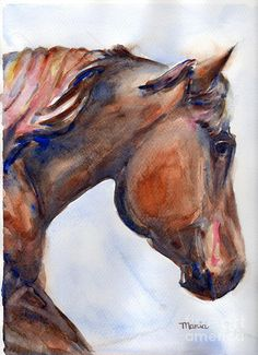 To Inspire by Marias Watercolor - To Inspire Painting - To Inspire Fine Art Prints and Posters for Sale