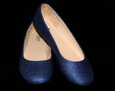 8e914311163 Wedding shoes Dark Blue wedding shoes Blue shoes navy flats blue flat shoes  bridal shoes blue
