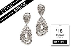 STYLE BREAK! Get the Kiri Earrings for $19.  Today Only!