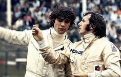 François Cevert and Jackie Stewart
