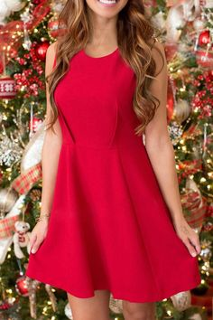 Fit and Flare Red Christmas Dress