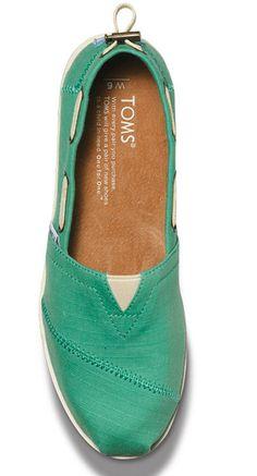 TOMS Mint Boat Shoes
