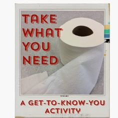 The Middle School Counselor: Take What You Need ~ A Get-To-Know-You Activity