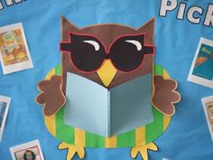 Cute Owl for reading bulletin board  will have to use this at some point...haha