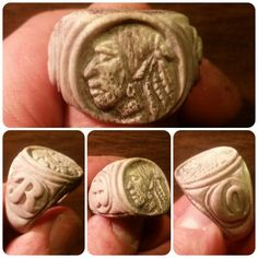 Custom order Rings, Hand Carved Jewelry, Carved from deer antler. by EastCoastAddiction on Etsy