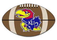 Kansas Jayhawks 22x35 Football Mat