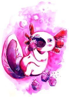 axolotl gourmand by Pendalune.deviantart.com on @deviantART