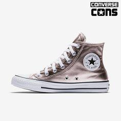 ddf0dbc3eb8bab Converse Chuck Taylor All Star Metallic Canvas High Top Women s Shoe Size  13 (Pink)