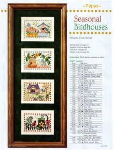 seasonal birdhouses  1