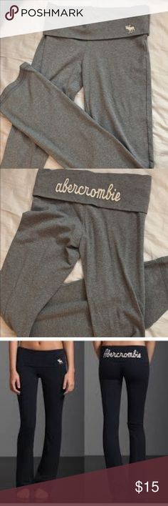 A&F Kids Gray Yoga Pants Flared legs so if your ankle tend to get suffocated by fabric this is perfect for you! //Willing to take try on photos xx Abercrombie & Fitch Pants Track Pants & Joggers