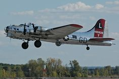 "B-17 ""Yankee Lady"" with Gear Down"