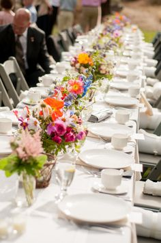 Wildflowers against white make this table pop: Taylor'd Events » A Lovely…