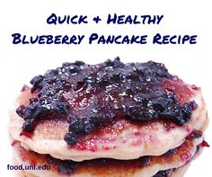 Quick & healthy Blueberry Pancake Recipe