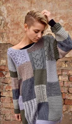 This would be a great scrap using project. Would require a bit of work to adapt . - This would be a great scrap using project. Would require a bit of work to adapt to basic knitting pattern? Source by songtothemoon - Knitting Patterns Free, Knit Patterns, Baby Knitting, Knitting Sweaters, Dress Link, Knit Fashion, Knitting Projects, Knitwear, Knit Crochet